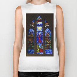 Stained Glass of the Royal Cathedral, Madrid Biker Tank