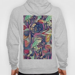Midnight Floral Abstract Hoody