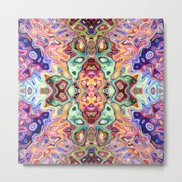 Colorful Mirror Image Abstract Metal Print