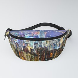 Hong Kong City Skyline Fanny Pack