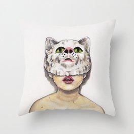 Masked Avenger Throw Pillow