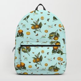 Oranges and Butterflies on Mint Backpack