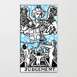 Tarot Floral Print - Judgement Canvas Print
