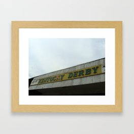 Coney Island sign Framed Art Print