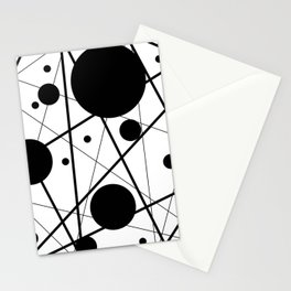 Abstract Lines and Dots Stationery Cards