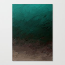 Inverted Fade Turquoise Canvas Print