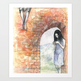 Mary at the Arch Art Print
