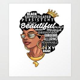 Melanin Afro Natural Hair Pride Art Print