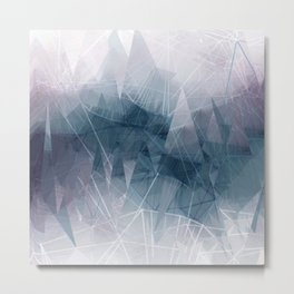 Ameythist Crystal Inspired Modern Abstract Metal Print
