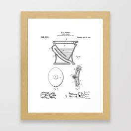 Toilet Patent - Bathroom Art - Black And White Framed Art Print