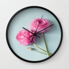 Ranunculus Love Wall Clock