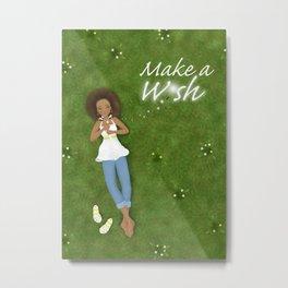 Make a Dandelion Wish Metal Print