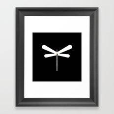 LibelluleMonde Black Branding Framed Art Print