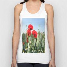 Poppies Unisex Tank Top