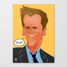 Bacon caricature Canvas Print
