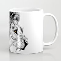 leon Mugs featuring Leon by Artful Schemes