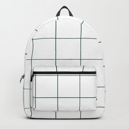 Graph Paper (Dark Green & White Pattern) Backpack
