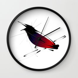 Crow on Branch Wall Clock
