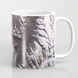 Side of an impact crater in the mid-latitudes of Mars northern hemisphere Coffee Mug