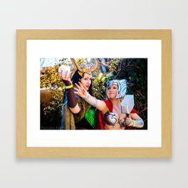 Thor and Loki Framed Art Print