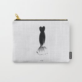 Little Black Mermaid Dress Carry-All Pouch