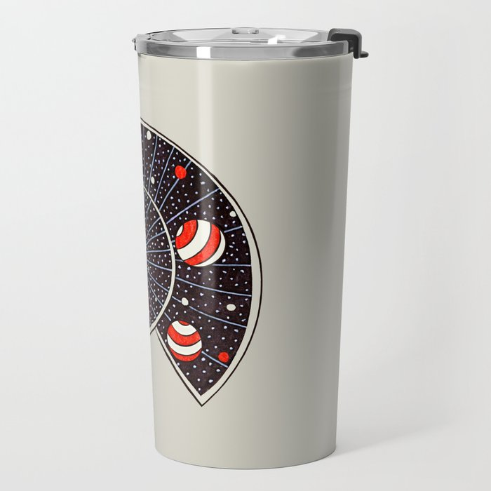 Spiral Galaxy Snail With Beach Ball Planets Travel Mug