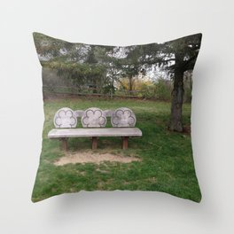 Chase's Bench Throw Pillow