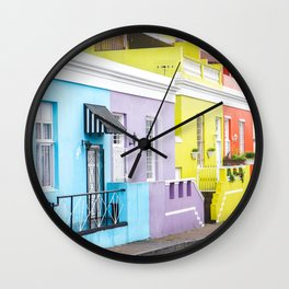 Bo Kaap Neighborhood Wall Clock