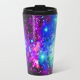 Fox Fur Nebula Galaxy Pink Purple Blue Travel Mug