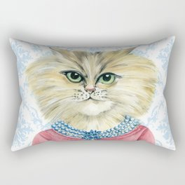 Vernonica Dressed for Luncheon Rectangular Pillow
