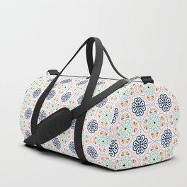 Pastel Moroccan Pattern Duffle Bag