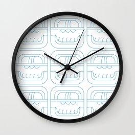 Symbolic art indigo maya Wall Clock