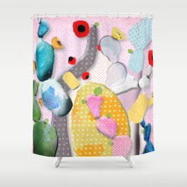 Pink Cactus Mexico Lindo Shower Curtain