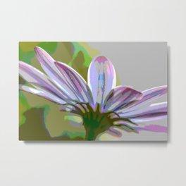 Purple Hints Comic Filter Color Metal Print
