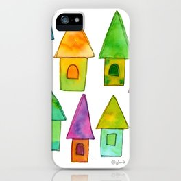 Home Sweet Home house illustration holiday gift family parents housewarming gift grandparents iPhone Case