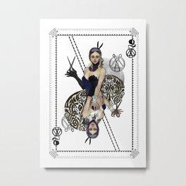 Queen of Scissors Metal Print