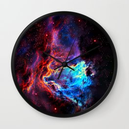 Colored Universe Wall Clock