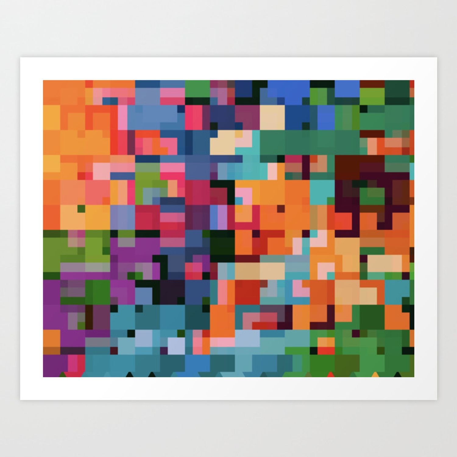 Colorful Squares Abstract Art Decim8 Home Decor Gift Art Print By Abstractarts Society6