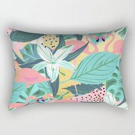 Flamingo Tropical #society6 #decor #buyart Rectangular Pillow