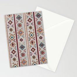 Caucasian Rugs(Stripe) - White Stationery Cards