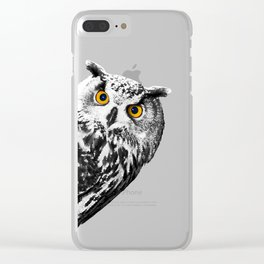 Sneaky Owl Clear iPhone Case