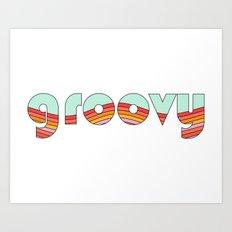 Groovy 2 Art Print