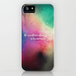 The excellence of every Art is its intensity.  Keats iPhone Case