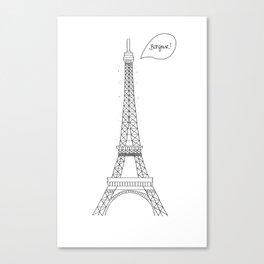 Bonjour Paris! Canvas Print