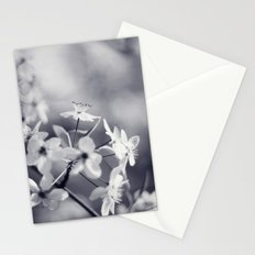 Pear Blossoms in Black and White Stationery Cards
