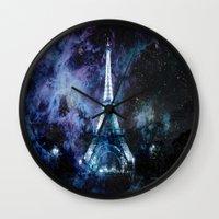 paris Wall Clocks featuring Paris dreams by 2sweet4words Designs
