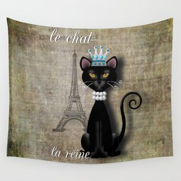 Le Chat, La Reine - The Cat, The Queen Wall Tapestry