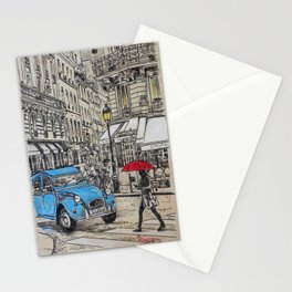 blue citroen Stationery Cards