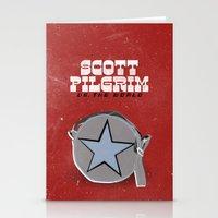 scott pilgrim Stationery Cards featuring Scott Pilgrim VS The World by Bill Pyle