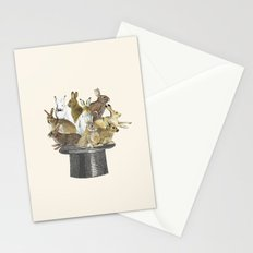 Rabbits in the hat Stationery Cards